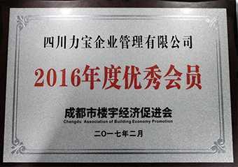 2016年度优秀会员